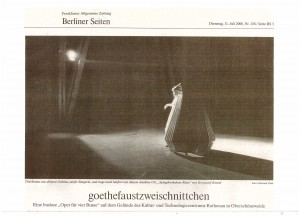 Frankfurter Allgemeine Zeitung, Jurgen Otten, Berlin 2000