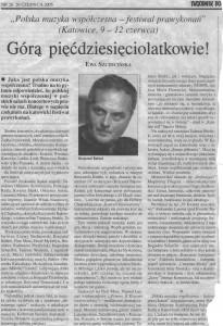 Ewa Szczecińska, Tygodnik Powszechny, 26.06.2005